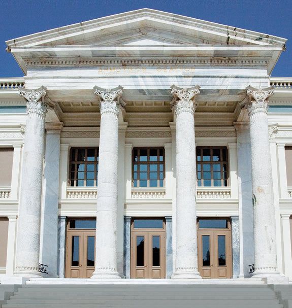 Completion of the construction of frames for the Municipal Theatre of Piraeus